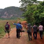 Cuba - crew walking